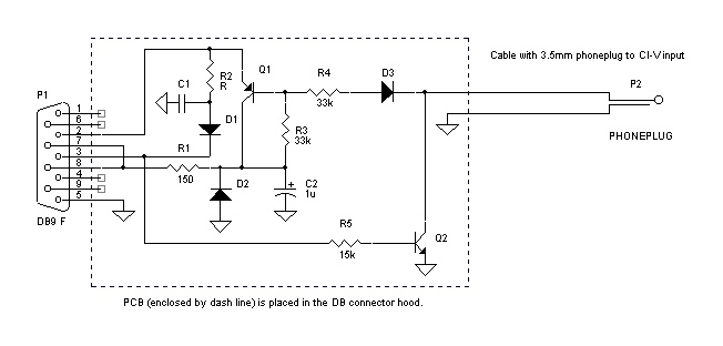 Icom Ci V To Rs232 Interface Diagram Using Transistors